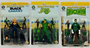 DC Direct Lot Hard-Traveling Heroes Black Canary Green Lantern Arrow Figures Set