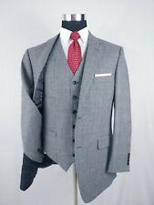 Jones New York Blazer & Vest Mens Glen Plaid Sport Coat 2 Button Wool Gray 42R