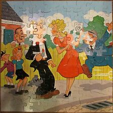 """""""Dagwood's in Trouble"""" BLONDIE Jaymar 10 Piece 19"""" X 19"""" Puzzle - Made in USA"""