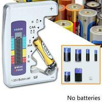 Universal Digital LCD Batterietester-Prüfer C D N AAA AA 1,5-V-Knopfzelle O9Q7