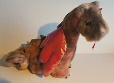 """Ty Beanie Buddy Classic """"SCORCH DRAGON"""" IRREDESCENT WINGS Plush Retired BABY"""