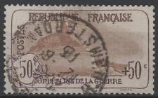 """FRANCE STAMP TIMBRE N° 153 """" ORPHELINS GUERRE 50c+50c LION"""" OBLITERE TTB  M319"""