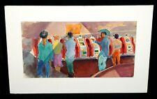 "'50s Nevada Wc Painting ""Casino & Slots"" by Robert Lee Eskridge (1891-1975)(BeG)"