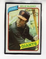 1980  WILLIE mcCOVEY - Topps Baseball Card # 335 - SAN FRANCISCO GIANTS