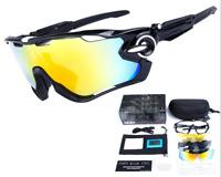 New 5 Lenses Cycling Sunglasses Full Frame Sports Sunglass Eyewear Sport Glasses