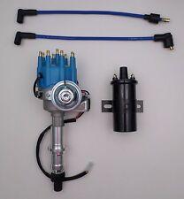 PONTIAC BLUE Small Cap HEI Distributor + BLACK 45K Coil 301-326-350-389-400-455