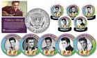 ELVIS PRESLEY Greatest Songs (Set B) JFK Half Dollar 5-Coin Set (All Shook, etc)