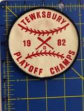 Tewksbury Playoff Champs 1982 Patch Baseball Champions Bats #3 MA Little League