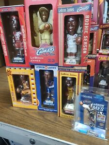 LeBron James Bobblehead figure Collection Cleveland Cavaliers incl Rookie Season