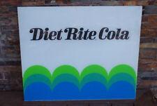Vintage Diet Rite Cola Soda Sign Lucite 29 x 24 Soda Machine Display