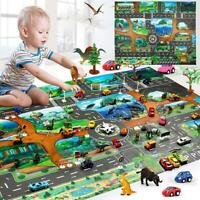 Dinosaur Traffic Road Baby Crawling Play Mat Kids Climbing Floor Game Pad Toys