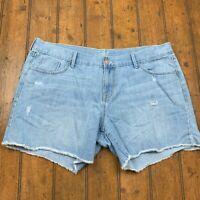 Old Navy Womens The Flirt Cut Off Shorts Size 16 Regular Blue Light Wash Denim