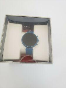 Fossil Sport Smartwatch 41mm Blue Silicone NIB FTW6051J