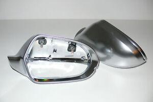 Aluminium Alu Spiegelkappen passend für Audi A6 S6 RS6 4G C7 (11-15) Side-Assist