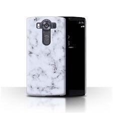 STUFF4 Back Case/Cover for LG V10/H900/H901/VS990/Marble Rock Granite Effect