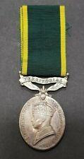 Efficiency Medal Territorial Bar T.82419 Sjt R.H. May RASC