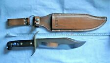 "Vintage 1982 Western USA F W49 Fixed Blade 14"" Knife w/ Original Sheath"