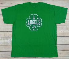 8deeb92e4add4 ANAHEIM ANGELS Est 1961 St Patricks Day Shamrock Graphic Green T-Shirt Size  2XLB