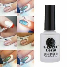 Nail Art Peel Off Base Coat Liquid Tape Cream Polish Palisade White Latex UK