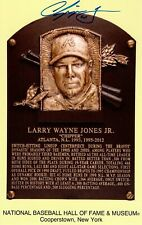 Chipper Jones Signed Hall of Fame Cooperstown Plaque Postcard PSA Authenticated