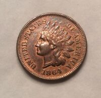 1864-L Indian Head Cent - Beautfiul Key Date #10408