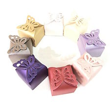 "(20 PACK) BUTTERFLY TOP BOXES 2.5"" x 2.5"" party favor wedding candy gift jewelry"
