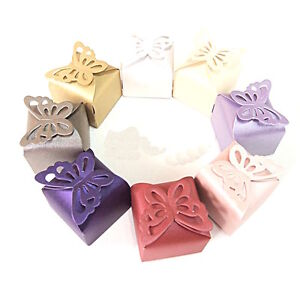 """(20 PACK) BUTTERFLY TOP BOXES 2.5"""" x 2.5"""" party favor wedding candy gift jewelry"""