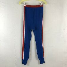 Vintage Sears Winterskins Long Underwear Mens M 34-36 Rare Blue Striped Zipper