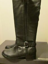 Kenneth Cole Reaction Skinny Love Black Leather Riding Knee Hi Boots Sz 8.5  NWB