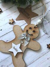 Personalised Gingerbread Man Christmas Decoration Keepsake Gift P90
