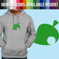 Nintendo Animal Crossing Logo New Leaf Symbol Men Unisex Pullover Hoodie Sweater