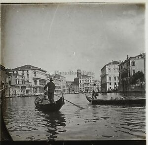 Venice Italy Photo Plate Glass Stereo K5 Vintage Ca 1910
