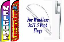 Computer Repair Service Welcome Windless Swooper Flag With Complete Kit Pk of 2