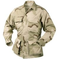 SHIRT BDU DESERT 3 COLORS 4 Pockets Desert Storm Style Sizes 2XL-3XL