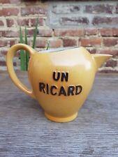 Ancien Pichet cruche a eau publicitaire Un Ricard Terre Acier Revol St Uze N°830