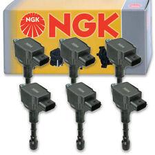 6 pcs NGK Ignition Coil for 2007-2008 Infiniti G35 3.5L V6 - Spark Plug Tune bo