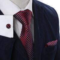 A2029 Brown Polka Dots Good Friday Gift Mens Gift Silk Tie Cufflinks Y/&G