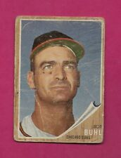 1962 TOPPS # 458 B CUBS BOB BUHL CREASED HIGH # CARD (INV# A4782)