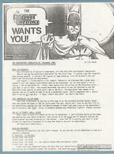 Midnight Conference Newsletter #3 T.M. Maple QUINTON HOOVER Batman fanzine 1988