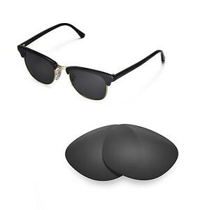 Walleva Lenses for Ray-Ban Clubmaster RB3016 49mm Sunglasses-Multiple Options
