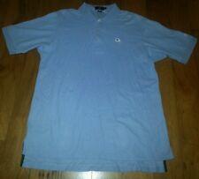 Andrew carrington legend Pima cotton medium golf polo light blue mayriver club