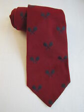 Robert Talbott Necktie Vintage Red Blue ENGLISH Repp CUSTOM MADE Tennis WIDE