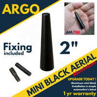 "2"" Black Car Aerial Bee Sting Mast Antenna Ariel Arial Mini Radio Stubby Am Fm"
