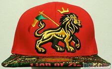 RASTA FLAG RASTAFARI LION ZION REGGAE MARIJUANA ONE LOVE BLESS CAP HAT SNAPBACK