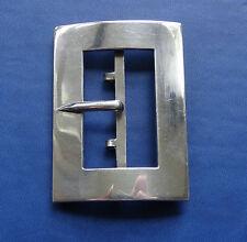 antique Edwardian 37g solid Silver 1908 hallmark Chester belt buckle -C174