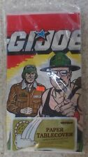 "GI Joe Paper Tablecloth Party Tablecover 54"" by 84"" Unique New 1986 MISB SEALED"
