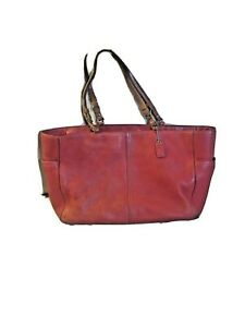 coach bag red 20x11! Chelsea PEBBLED LEATHER XL TRAVEL LAPTOP RARE!