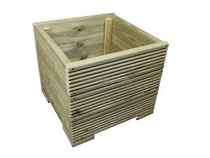 Square wooden planter box, plant pot for flowers, Various Sizes