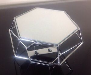 Sold out! ANTHROPOLOGIE Silver Metal Hexagon Outline Projection Mirror Modern