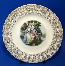 """The Sebring Pottery Co """"Love Seat"""" 22K Gold 9.25"""" Decorative Plate"""